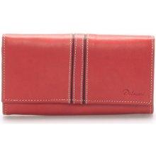 Delami Peněženky Dámská kožená peněženka červená Lestiel Červená