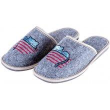 14516046d461 Vlnka luxusní filcové pantofle Kočička
