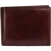 HELLIX Kožená pánská peněženka P-506 hnědá,