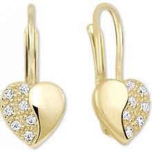 Brilio zlaté srdíčkové náušnice s krystaly 239 001 00880 acb68ed4cbb