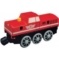 MAXIM Lokomotiva na baterie se zvukem červená
