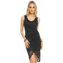81dee40bf42 MAYAADI společenské a plesové šaty Deluxe krajkové s asymetrickou sukní  černá