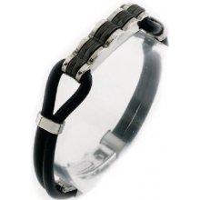 Bracelet ZAGO. 316L surgical steel. rubber. enamel A579