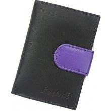 Lorenti Dámská kožená peněžka LT 01 CCF černá s fialovou