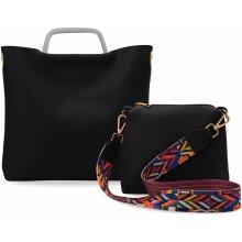 módní kabelka zarka 2v1 khaki. 299 Kč World-Style.cz. Shopper listonoška  aztécký pásek sada 2v1 černá 249b8761322