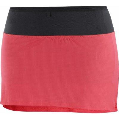 Salomon sukně AGILE SKORT W červená/černá