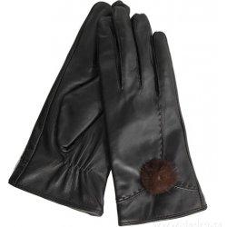 014bc470e2a Dedra Elina dámské rukavice elegantní kožené s bambulkou - Nejlepší ...