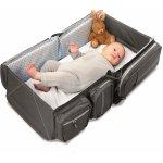 Delta Baby DOOMOO BASICS Baby travel a přenosná taška Tm. šedá