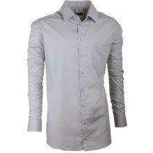 Extra prodloužená pánská košile slim šedá Assante 20115 šedá 048dc527c0