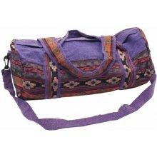 1e7208b7fa Thajsko bavlněná sportovní taška se vzory fialová I
