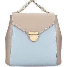 7ddb35ca2a Hexagona Reina elegantní dámský kožený batoh béžovo modrá