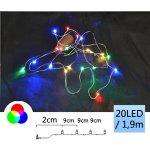 TFY NO74508 Vánoční micro LED osvětlení řetěz 12ks, 20LED, 1,9m, barevná