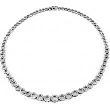 Luxusní stříbrný náhrdelník RHEA s micro zirkonia JJJN0084N2