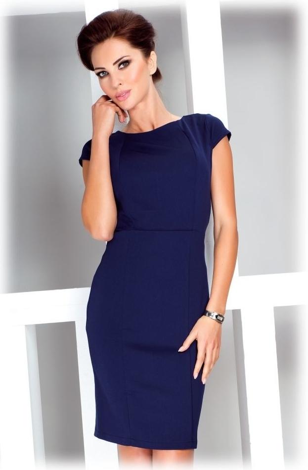 2e0b27a662b Numoco dámské společenské a casual šaty s krátkým rukávem modrá od 899 Kč -  Heureka.cz