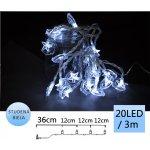 TFY NO55965 Vánoční LED osvětlení hvězda 20LED, 3m, studená bílá