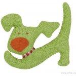 Efie Zelený pejsek BIO bavlna mazlíček s chrastítkem