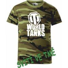 dětské tričko World of tanks camouflage green