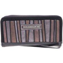 Dogsbybeluchi Peněženky dámská peněženka 25329-8 metalico Černá