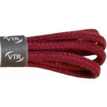 Kulaté vínové tenké bavlněné tkaničky 45 cm
