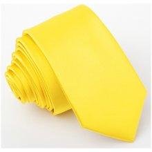 Greg Žlutá kravata slim 99174