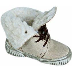 První krůčky dětské zimní boty s tkaničkami béžové alternativy ... 5f0e5afa97