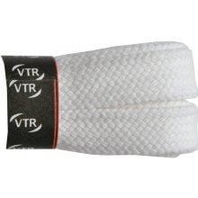 Ploché bílé bavlněné tkaničky 100 cm