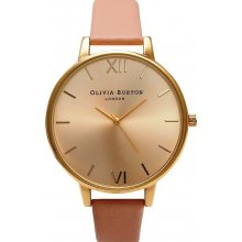 Olivia Burton BIG DIAL DUSTY PINK AND GOLD H25-150