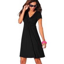 Blancheporte Splývavé úpletové šaty černá