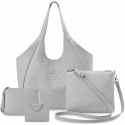 sada kabelka 4v1 shopper vak listonoška kosmetická taštička šedá od ... 5abb1e2ecec