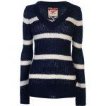Lee Cooper Essential pruhy svetr dámské, Navy/Winter Wht