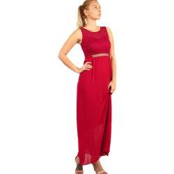 42f06671b53f Dlouhé šaty s kamínkovou aplikací v pase 282823 vínová alternativy ...