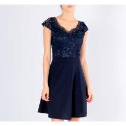 Plesové šaty Společenské mini šaty s krajkou 331861-4 modrá 9923ca169e