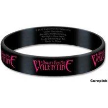 CurePink silikonový náramek Bullet For My Valentine: Logo černý BFMVGUM01