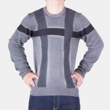 Armani Luxusní pánský svetr Collezioni šedý