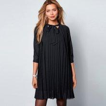 a42c43bc52e5 Venca plisované šaty se 3 4 rukávy černá