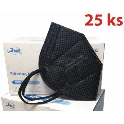 HO-Comfort respirátor FFP2 ČERNÝ 25 ks
