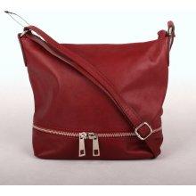 malá střední kožená crossbody kabelka no. 192 tmavěčervená 02fd60911c