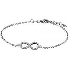 Náramek stříbrný infinity SBJ03