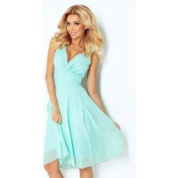 Numoco luxusní dámské společenské a plesové šifonové šaty Kara 354 mint edac4e76989