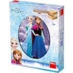 Dino dřevěné kostky kubus Ledové Království Frozen 20 kostek