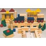 HMmax Dřevěné kostky XL 140 kusů
