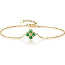 Eppi zlatý smaragdový náramek s diamantem Reith BR33938