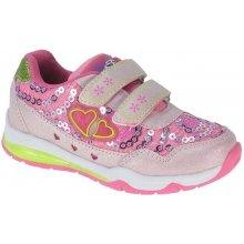 Beppi Dívčí svítící tenisky růžové