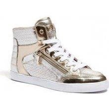 Guess boty Mindie Metallic Sneakers zlaté
