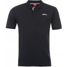 Slazenger Plain Polo Shirt Mens Black