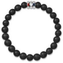 Tommy Hilfiger Černý korálkový náramek TH2700881