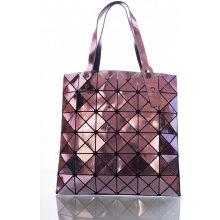 kabelka Midi Cubic lesklá fialová