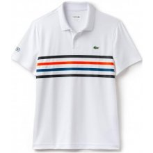 Lacoste Short Sleeved Ribbed Collar Shirt white/black LACOSTE DH3138-PSF