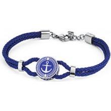 Brosway pánský modrý náramek Nautilus BNU13