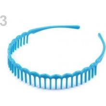 Stoklasa Plastová čelenka s hřebínkem - 3 modrá azuro